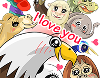 """World Greetings (Love)"" - LINE STICKERS"