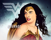 wonderwoman vectorart