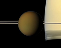 Saturn & Earth Imaged by Cassini-Huygens, Xmas 2017.