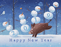 New Year's card of 2019