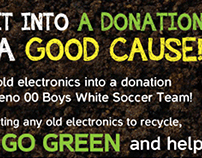 Fundraising Flyer for local Youth Soccer Team