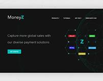 FinTech Website landing page