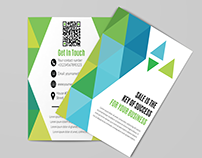 Square Bi-Fold Brochure Template