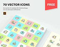 70 MULTIPURPOSE VECTOR ICONS