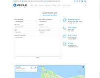 Contact Alt Page - Medical WordPress Theme