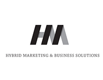 Hybrid Marketing Logo Design concept