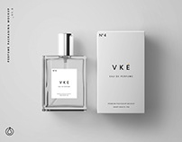 Perfume Bottle Package Mockup PSD