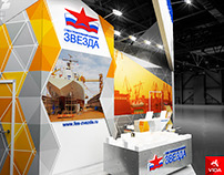 Project of exhibition stand for the ZVEZDA