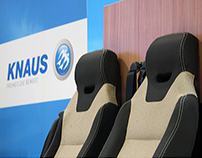 Multi-position seating unit for Knaus-Tabbert GmbH