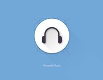 Material Music Icon Design