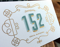 "Visual identity for ""152"" hair salon - Barcelona"