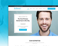 Web Layout for Dental Care