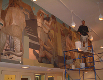 "Philip Guston ""Work and Play"" Mural Restoration"