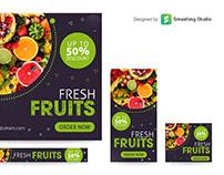 Free Fruits Shop Web Banner Set