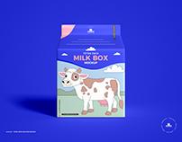 Free Milk Box Mockup