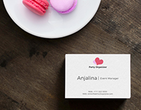 Free Top View Business Card on Wood Mockup