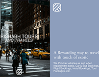 Rishabh Tours & Travels Brand Identity Design