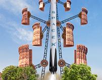 Qutub Minar feat SpaceX Falcon9