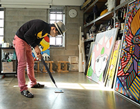 GALAXY NOTE ART FAIR_WISH NOTE with Charles Jang Artist