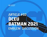DCEU Batman 2021 Emblem and Logo vector design....