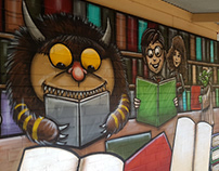 Clarkson Primary School Library Mural