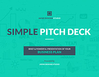 Simple Pitch Deck Keynote Template