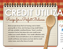 Credit Utilization Infographic
