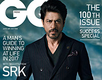 100th issue of GQ with Shahrukh Khan