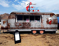 Rusted Background Design to Food Truck