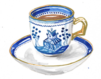 Coffee cup illustrations.