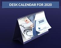 Desk Calendar for 2020