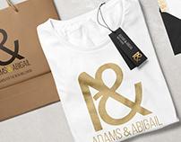 adams & abigail: Logo and identity