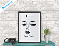 Realistic Poster Mock Up Psd