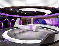 Broadcast TV Studio - 3D Rendering and Interactive