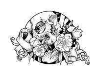 Botanical Skull Illustrations