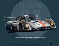"""CHAYKA"" GAZ-13 Le Mans"