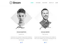 Stream WordPress Theme - One Page Template