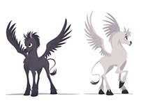 PEGASUS FOALS SKETCHES
