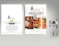HOTEL MENU CARD MOCK-UP DESIGNS