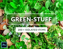 Green Stuff Collection - 200+ Isolated Items