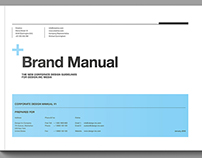 Brand Manual with 44 Pages and Real Text.