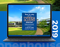 NUS Openhouse Web design 2019
