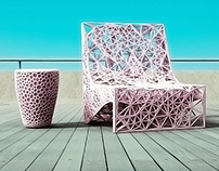 "3D PRINTED LOUNGE CHAIR ""EIFFEL"""