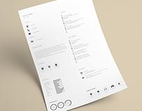 Minimalistic resume (Free Template)
