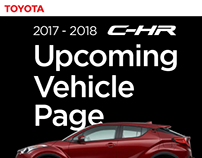 2017-2018 Toyota C-HR  Upcoming Vehicle Page