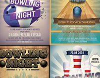 Bowling Night Flyer Template Bundle