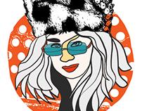 selfie with fur hat
