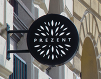 Prezent \ sustainable gift shop branding