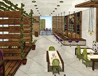 Trattoria Rezi - Projeto de Interiores - Restaurante
