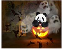 Happy halloween panda